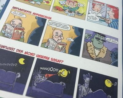 Comic-Strips für eine Patientenzeitung